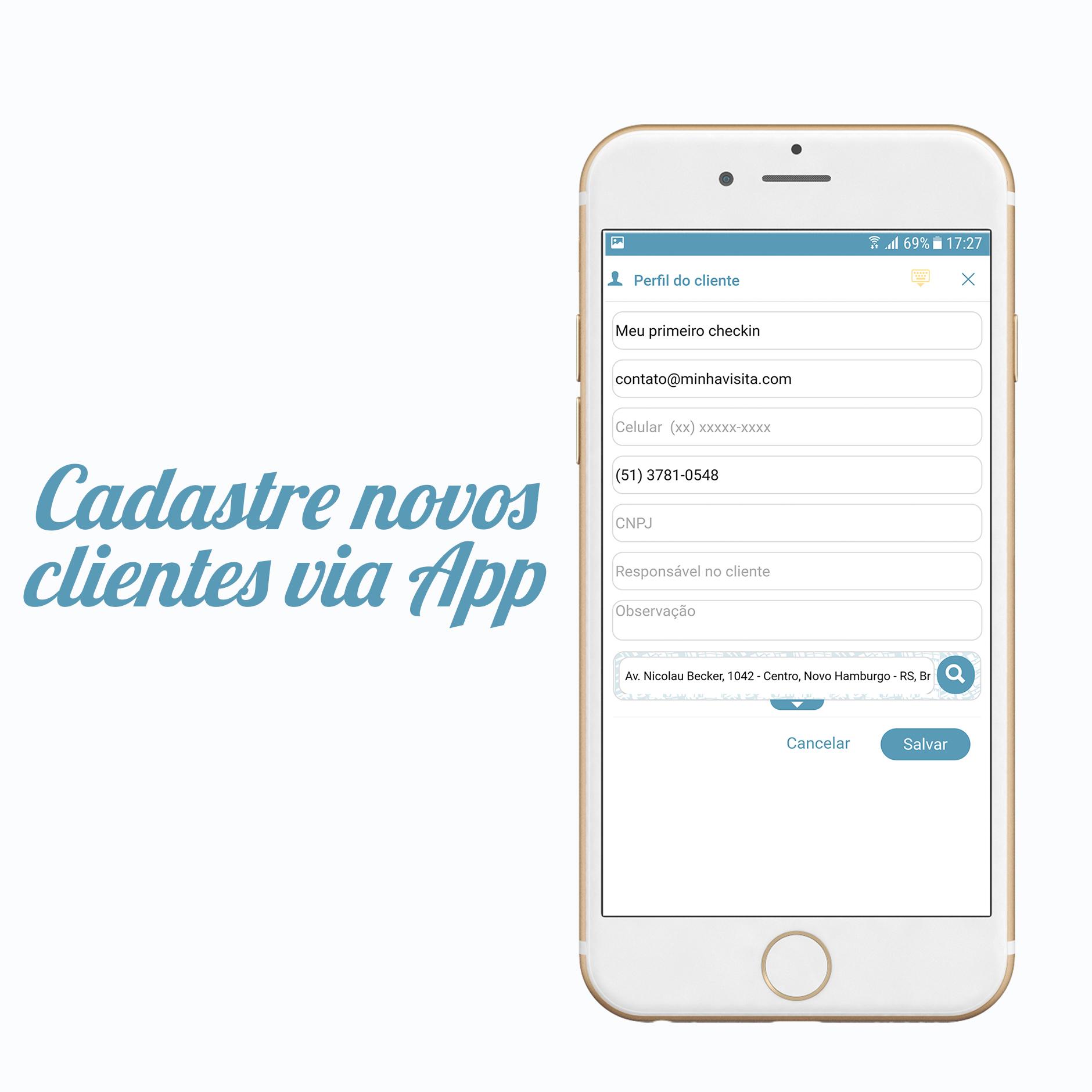 #Atualização Minha Visita – Cadastro de Clientes Via Aplicativo